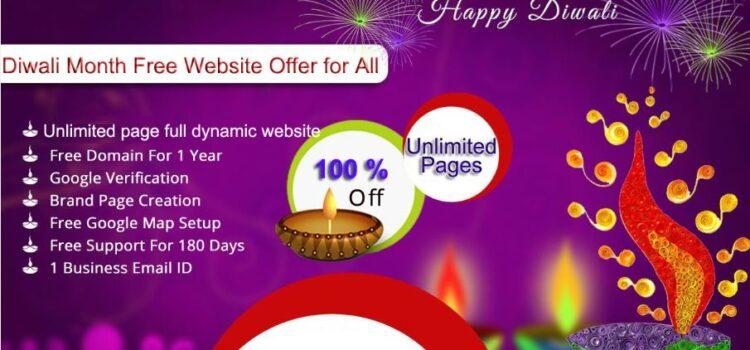 Free website design Diwali special offer